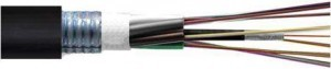steel tapered armoured fibre optic cable
