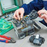 Splicing a fibre cable repair London