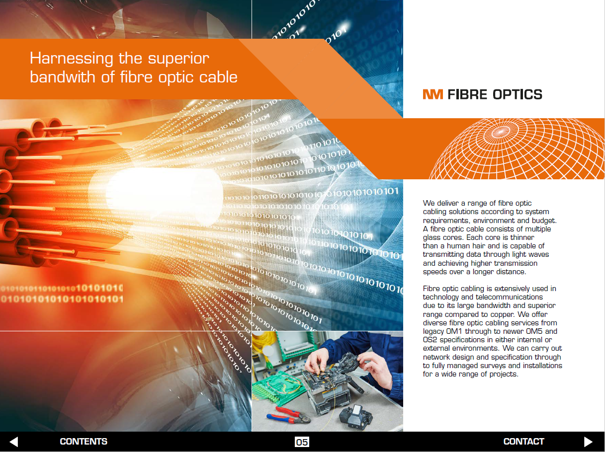 Data cable Installation brochure